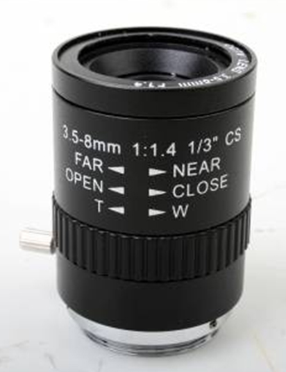 3.5-8MM Manual Zoom CCTV Lens For Board Camera True F1.4