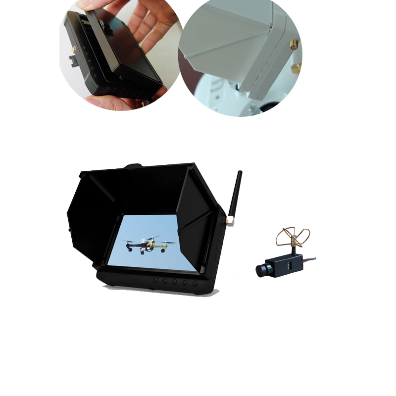 HD 5.8GHz 5inch Wireless Mini Camera DVR Receiver HD Monitor With Sunshade