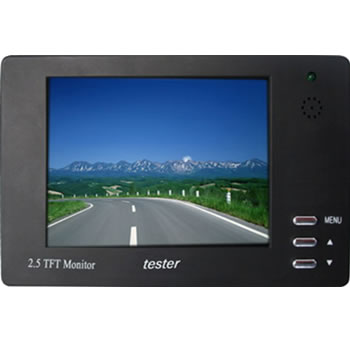 2.5 inch CCTV Camera Tester TFT Monitor Audio Input/Output